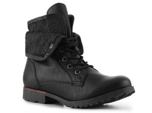 Rock Candy Leather Black Boots