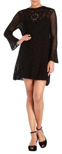 Free People short dress black Vintage Crochet Sweater on Tradesy