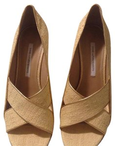 Diane von Furstenberg Cream Wedges