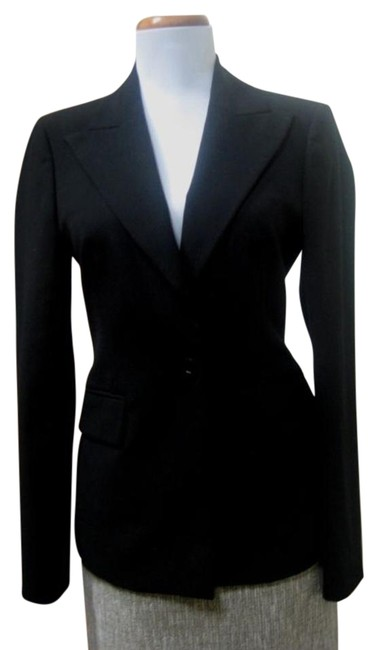 Item - Black Made In Italy Lightweight 38 Jacket Size 6 (S)
