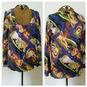 Oilily Pullover Tunic Geo Boho Top
