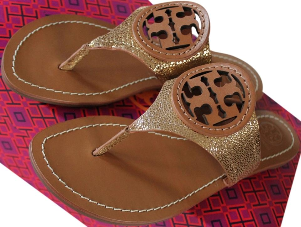 7214388af2e Tory Burch Gold   New Tan 711 Louisa Thong Sandals. Size  US 7 Regular (M  ...