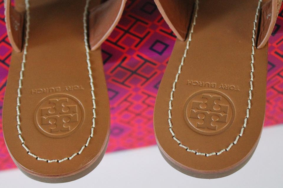 1cb88bf7ccd Tory Burch Gold   New Tan 711 Louisa Thong Sandals Size US 7 Regular ...
