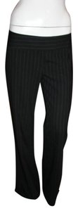 Karen Millen Wool Blend Straight Pants BLACK STRIPED