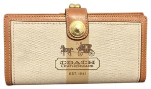 Coach Coach Heritage Logo Tattersall Strip Long Wallet