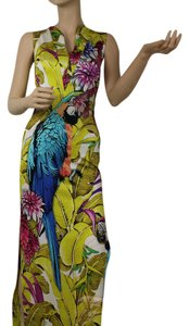 Roberto Cavalli Cut Out Long Vneck Dress