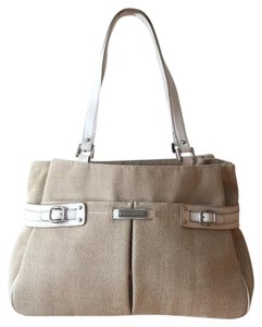 Etienne Aigner Tote in Tan with White Trim