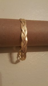Other ** NWT ** 14K GOLD TWO STRAND BRAIDED BRACELET