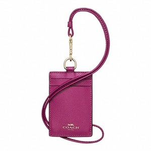 Coach F57311 ID Lanyard In Crossgrain Leather