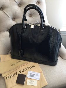 Louis Vuitton Alma Vernis Electric Epi Satchel in Black