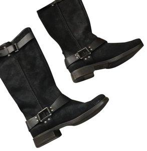 Ugg black boots Black leather suede ugg boots Boots