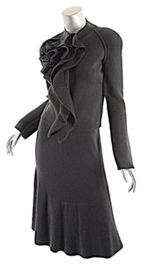 Sonia Rykiel SONIA RYKIEL Paris Graphite 100% New Wool Knit Skirt Suit