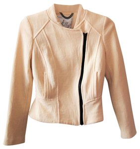Milly of New York Italian Cropped Fitted Motorcycle Jacket