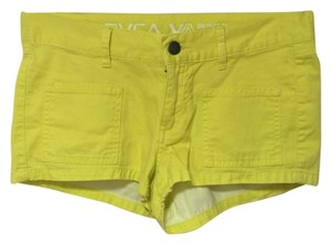 RVCA Short Short Mini/Short Shorts Yellow