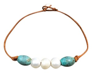 Other Turquoise Tri- Pearl Anklet