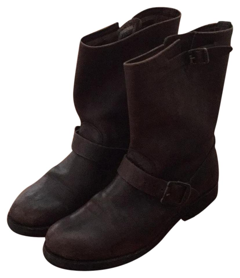 Women's Boots/Booties Frye Brown Motorcycle Boots/Booties Women's Has a long reputation 2920ad