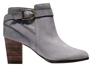 Cole Haan Leather Bootie Nubuck Leather Gray Boots