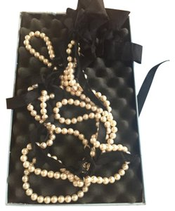 Lanvin foux pearl and cloth neclace