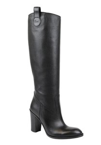 Gucci Leathersuede Tall Knee 317032 Black Leather/1000 Boots