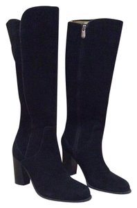 Adrienne Vittadini Black Suede Boots