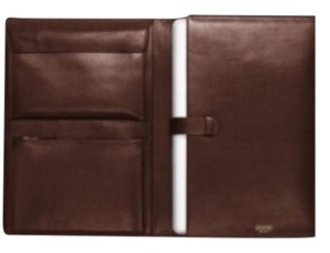 Coach Portfolio/Laptop Leather Case bleecker legacy leather executive portfolio