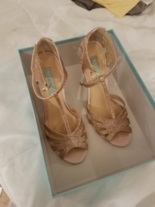 Betsey Johnson Gold/ Champagne Blue By Pumps Size US 8 Regular (M, B)
