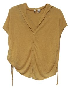 Anthropologie Yellow Sweater Button Sweater Drawstring Sweater Cardigan