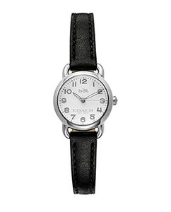 Coach Coach Delancey Black leather 23mm Luminescent Leather Watch 14502284