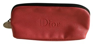 Dior Dior Hot Pink Faux Leather Makeup Cosmetic Bag Case
