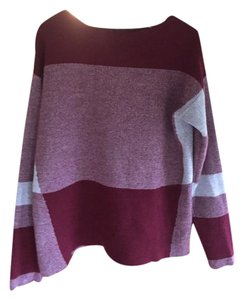 FATE Color-blocking Wool Cotton Sweater