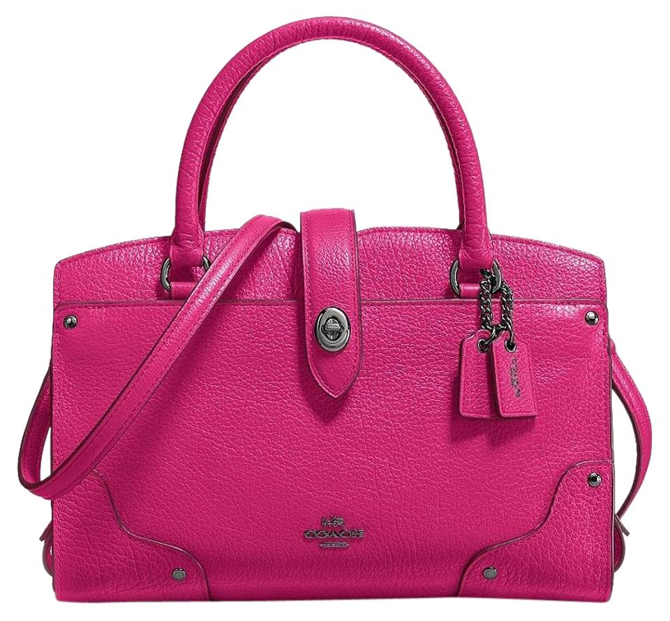 1c3d515153d3 Coach Mercer Cerise 37779 24 Pink Leather Satchel - Tradesy