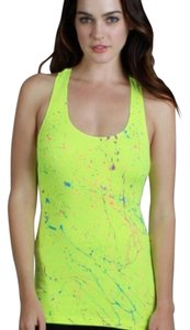 Nikibiki Paint Splatter Racer-back Top Yellow