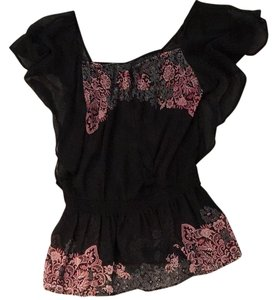 Guess Top Black & Paisley