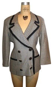 Evan Picone Vintage Houndstooth black and white Blazer