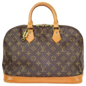Louis Vuitton Monogram Canvas Leather Totes Satchel in Brown