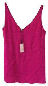 MILLY Fuscia Hot Vneck Top Pink