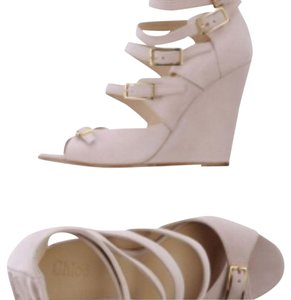 Chlo Light pink Wedges