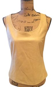 St. John Sport by Marie Gray Faux Suede Top Light Camel