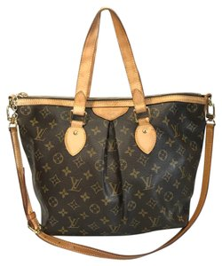 Louis Vuitton Palermo Monogram Tote in Brown