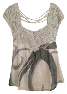 bebe Chic Sparkle Top Silver