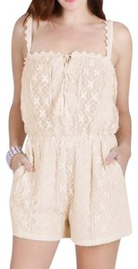 Nikibiki Cream White Romper Lace Dress