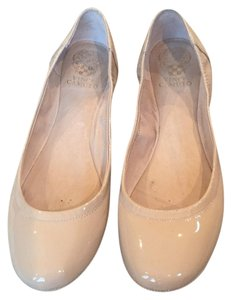 Vince Camuto Patent Leather Patent Ballet Round Toe Nude Flats
