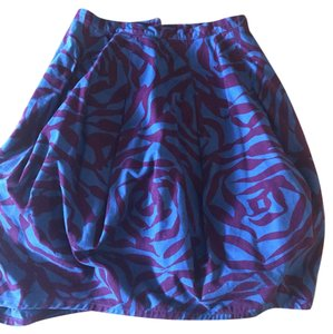 Marc Jacobs Balloon Skirt Purple and Blue