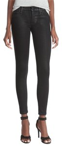 Hudson Jeans Coated Coated Skinny Jeans-Coated