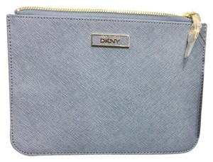 DKNY DKNY new With Tags Donna Karan Saffiano Leather Zipper Zip Pouch