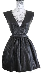 Akira Vegan Leather Lbd Party Dress