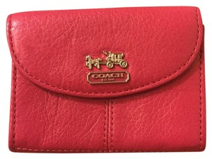 Coach Pink Coach Card Wallet