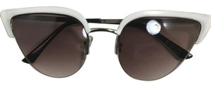 Other Half Frame Metal Cateye Sunglasses