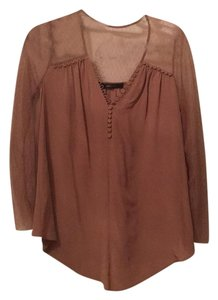 BCBGMAXAZRIA Top Tan