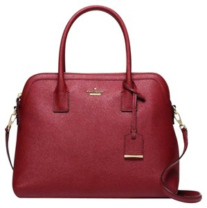 Kate Spade Saffiano Leather Satchel in Train Car Red